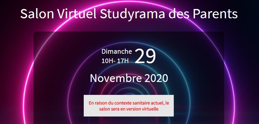 SALON AVENIR ETUDIANTS STUDYRAMA